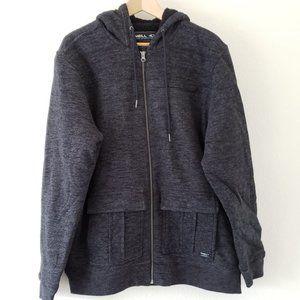 O'Neill Jersey Black Fleece Lined Full Zip Jacket